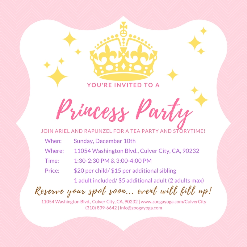 You\'re Invited to... Zooga Princess Party! - Zooga Yoga