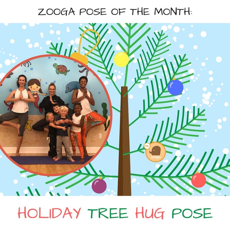 pose of the month: holiday tree hug pose! - zooga yoga